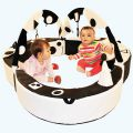 Black and White Baby Playring Den,soft play sensory play rings for children, sensory toy warehouse discount voucher, waterproof play areas, for children with autism, sensory toys, resources for schools and other organisations, sensory products for those on the autistic spectrum, lifetime education